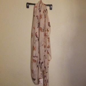 LC Lauren Conrad Accessories - LC Lauren Conrad painted blooms oblong scarf.